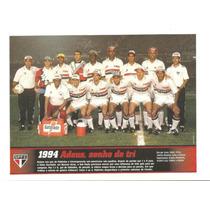 Poster São Paulo Na Taça Libertadores 1994 Placar