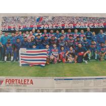Poster Placar Fortaleza 41x27 Campeão Cearanse 2003