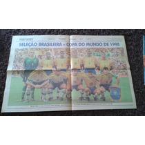 Poster Seleção Brasileira - Copa Do Mundo De 1998