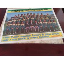 Poster Seleção Brasileira Copa Do Mundo De 1986