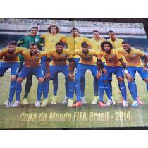 Poster Gigante Seleção Brasileira Copa Do Mundo 2014 80x54cm