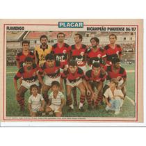 Poster Placar Flamengo Bicampeão Piauiense - Ano 86/87.