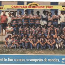 Fortaleza: Campeão Cearense 1982 - Pôster Da Placar