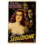 Rita Hayworth Sedução Paixão 1940 Itália Filme Poster Repro