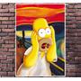 Poster Exclusivo Homer Simpsons Retro Grito Tamanho 30x42cm