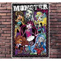 Poster Exclusivo Monster High Desenho Animado Tamanho 30x42