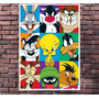 Poster Looney Tunes Personagens Comics Retro Pop Art 30x42cm