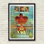 Antigo Poster Filme De Guerra A Ponte Do Rio Kwai De 1960