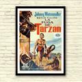 Antigo Poster Filme A Fuga De Tarzan - Cartaz Cinema De 1967