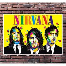 Poster Exclusivo Nirvana Kurt Cobain Pop Art Rock 42x30cm