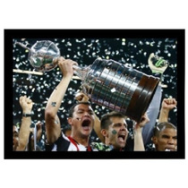 Poster Emoldurado Rever Ergue A Taça Libertadores 2013