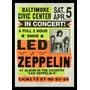 Quadro Poster Propaganda Led Zeppelin In Concert