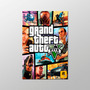 Poster Cartaz 40x60cm Gta 5 Grand Theft Auto - Filmes Games