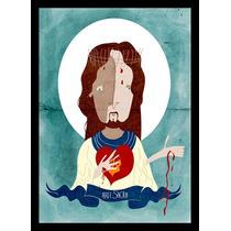 Quadro Poster Art Digital Jesus Arte Sacra