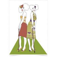 Poster Art Digital Mulheres De Bengala