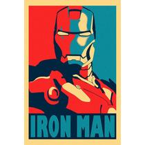Poster Em Lona - Homem De Ferro - Iron Man - 120x80cm