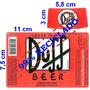 10 Rótulos Da Cerveja Duff Em Adesivos Baixou E Frete Grátis