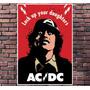 Poster Exclusivo Ac/ Dc - Rock - Tamanho 30x42cm