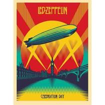 Pôster Led Zeppelin - Celebration Day Poster Em Lona 60x40cm