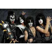 Kiss Banda - Monsters Of Rock - Poster Em Lona 120x80cm
