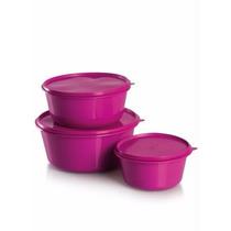 Tupperware Tapoer 3 Potes - Plástico Forte E Resistente
