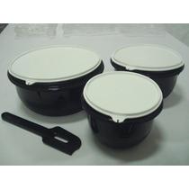 Conjunto Tigelas Batedeira - Preta - 4 Peças - Tupperware -