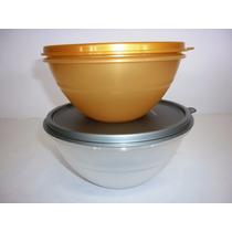 Tigela Maravilhosa Dourada 500 Ml E Prateada 750 Tupperware