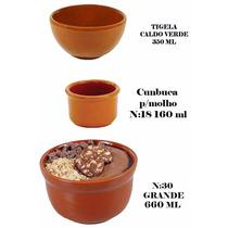 Kit C/3 Cumbuca Tigela P/feijoada 1- Gr E 1-pq 1-caldo Verde