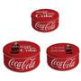 Conjunto Caixa Organizadora Coca-cola Classic Coke 3 Peças