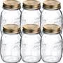 6 Pote Salada Hermético Quattro Stagioni Conserva Vidro 1,5l