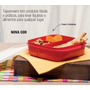 Tupperware Pote Marmita Basic Line 550 Ml Com Divisórias