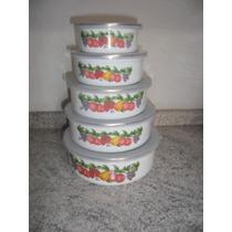 Conjunto De Potes Esmaltados 5 Peças Agata Cozinha (fp25)