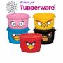 Tupperware Angry Birds Pote 100ml/cada Coleção Infantil