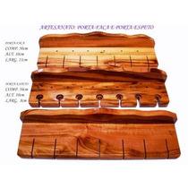 Artesanato: Porta-espeto Ou Porta-faca Em Madeira Maciça
