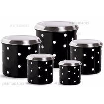 Mantimento Aluminio Potes Conjunto Lata Condimento 5pçs Jr