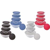 Conjunto De Potes Em Vidro 5 Peças Vdr3008 - Euro