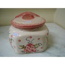 #4392# Saleiro De Porcelana Decorado Grande, Lindo!