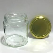 10 Pote De Vidro 250 Ml C/ Tampas Branca