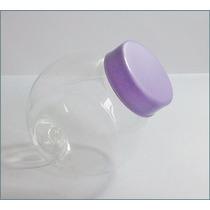 100 Mini Baleiro Pote Bola 50ml Com Tampas De Plástico Lilás
