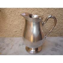 Antigo Jarro Água Suco Espessurado Prata Silver Plate Nº1240