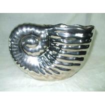 Antigo Vaso Em Prata 90 - Forma De Concha