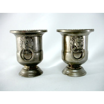 Par Vasos Ânforas Prata De Lei International Silver Company