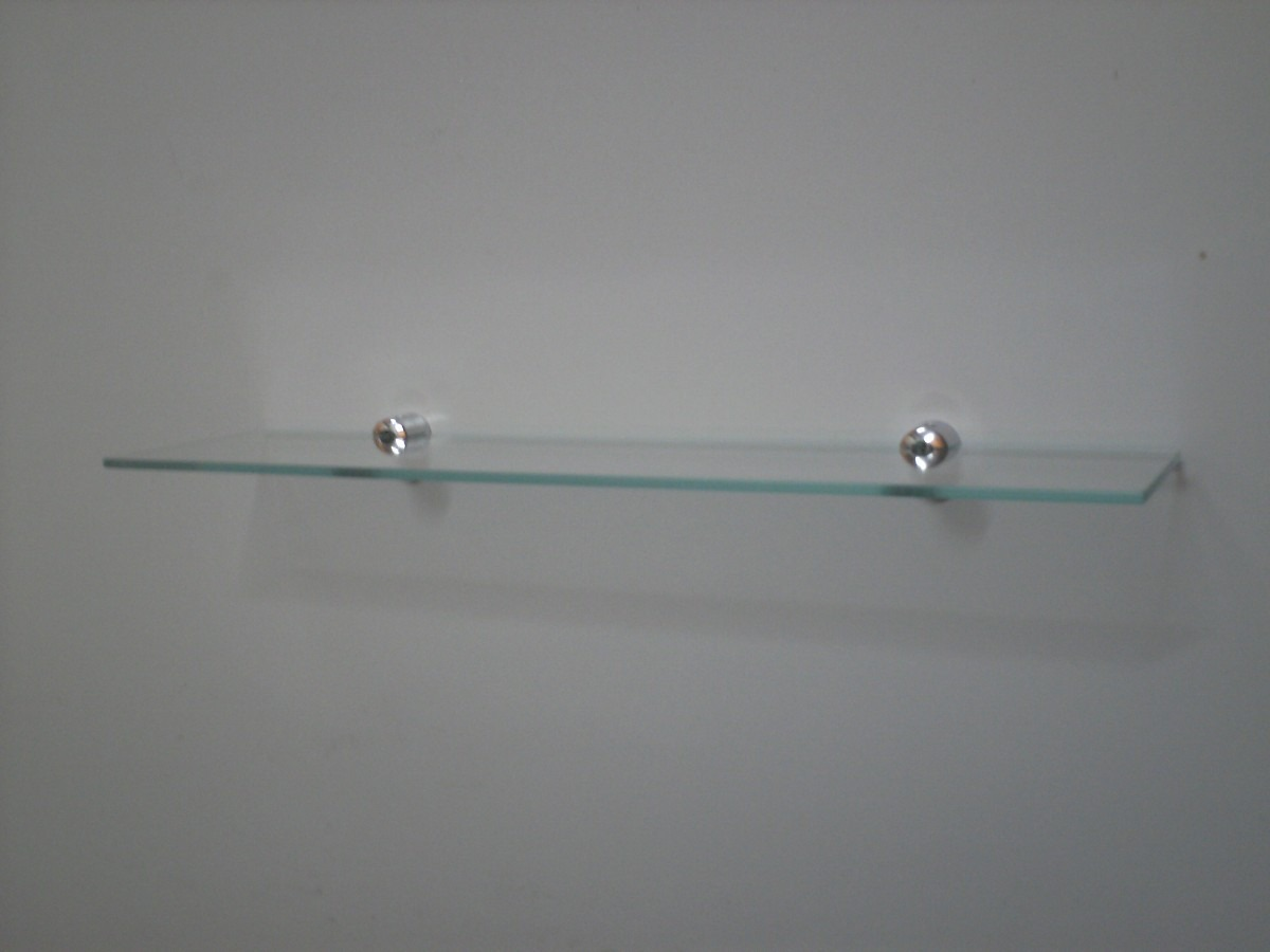 Pin Prateleira De Vidro 8 Mm Lapidado C Suporte Picture on Pinterest #4F6867 1200 900