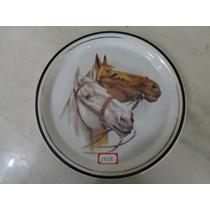 #14336 - Prato Parede Faiança Decorado Cavalos!!!