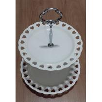 Porta Docinhos De Porcelana Branco Para Festas,aniversários