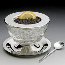 Porta Caviar De Prata E Cristal Prato Colher Wolff 8472 R