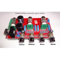 Pré Amplificador Valvulado Com Volume, Equalizador (stereo)