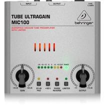 Pre Amplificador Tube Ultragaim Mic 100 Behringer
