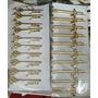 Prendedor De Gravata Nota Musical Pacote 10 Pcs Dourado Meta