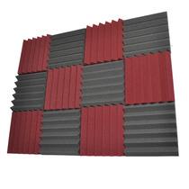 Estúdio Espuma Acústica Pack Of 50mmgris Borgonha 12 Carvão